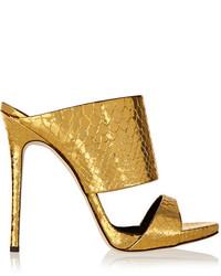 Mules dorées
