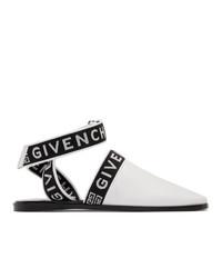 Mules en cuir blanches et noires Givenchy