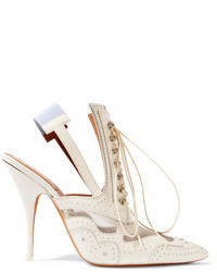 Mules en cuir blanches Givenchy