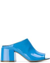 Mules en cuir bleues MM6 MAISON MARGIELA
