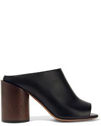 Mules en cuir noires Givenchy