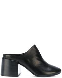 Mules en cuir noires MM6 MAISON MARGIELA