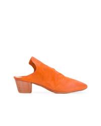 Mules en cuir orange Marsèll