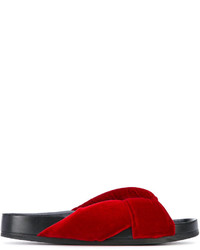 Mules en cuir rouges Chloé