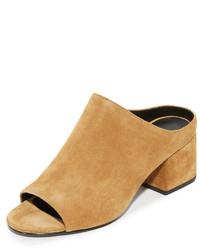Mules en daim marron clair 3.1 Phillip Lim