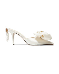 Mules en satin blanches