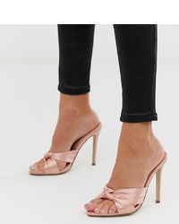 Mules en satin roses Missguided