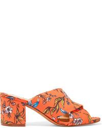 Mules imprimées orange Sam Edelman
