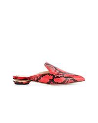 Mules imprimées serpent rouges Nicholas Kirkwood