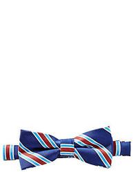 Nœud papillon blanc et rouge et bleu marine