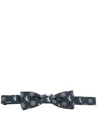 Nœud papillon en soie imprimé bleu marine Dolce & Gabbana