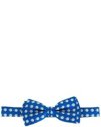 Nœud papillon en soie imprimé bleu Salvatore Ferragamo