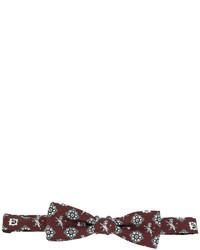 Nœud papillon en soie imprimé marron Dolce & Gabbana