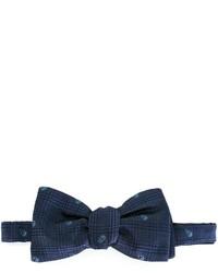 Nœud papillon en soie tressé bleu marine Alexander McQueen