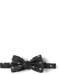 Nœud papillon imprimé noir Alexander McQueen