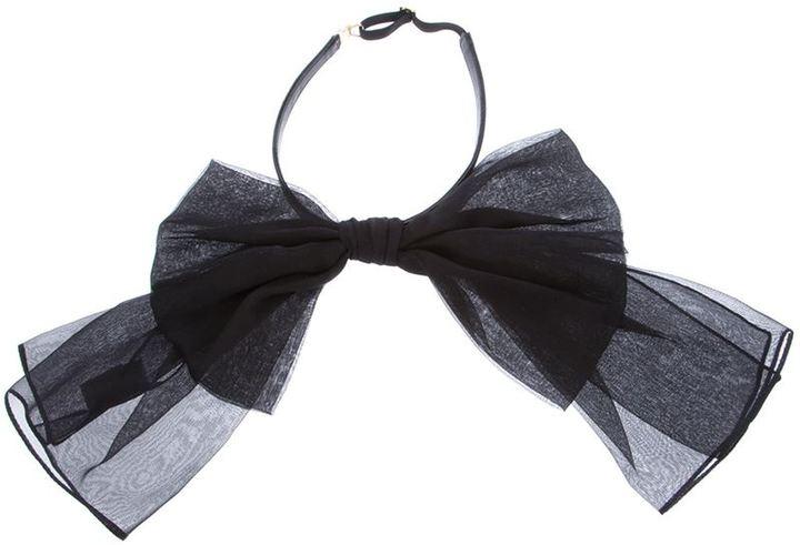 Nœud papillon noir Saint Laurent