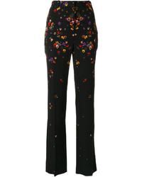 Pantalon à fleurs noir Givenchy