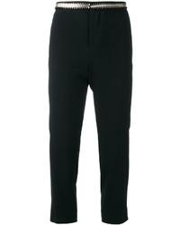 Pantalon brodé noir Dsquared2