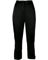 Pantalon brodé noir Fendi