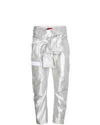 Pantalon cargo argenté Ronald Van Der Kemp
