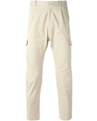 Pantalon cargo beige Paolo Pecora
