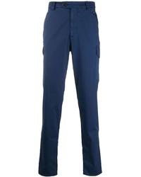 Pantalon cargo bleu marine Brunello Cucinelli