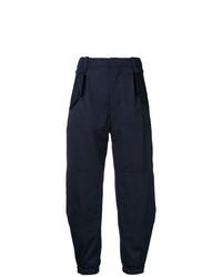Pantalon cargo bleu marine Chloé
