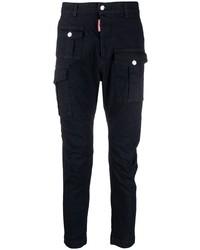 Pantalon cargo bleu marine DSQUARED2