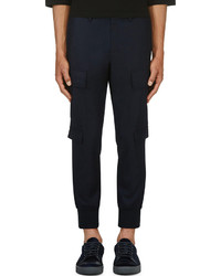 Pantalon cargo bleu marine Neil Barrett