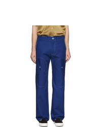 Pantalon cargo bleu marine Sies Marjan