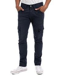 Pantalon cargo bleu marine Timezone