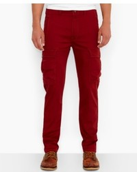 Pantalon cargo bordeaux