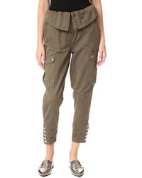 Pantalon cargo brun