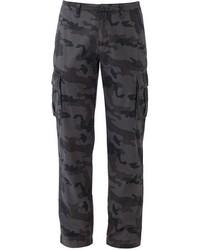 Pantalon cargo camouflage gris foncé