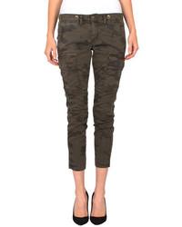 Pantalon cargo camouflage marron