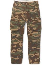 Pantalon cargo camouflage olive
