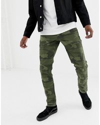 Pantalon cargo camouflage olive Abercrombie & Fitch