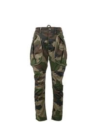 Pantalon cargo camouflage olive Faith Connexion