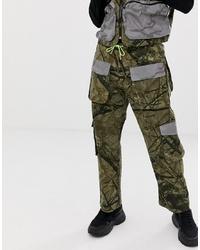 Pantalon cargo camouflage olive Jaded London