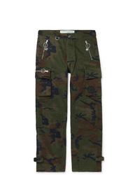Pantalon cargo camouflage olive Off-White