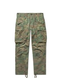Pantalon cargo camouflage olive RRL