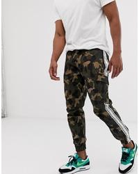 Pantalon cargo camouflage olive Siksilk