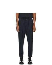 Pantalon cargo en laine à rayures verticales bleu marine et blanc 3.1 Phillip Lim