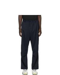 Pantalon cargo en laine bleu marine Y-3