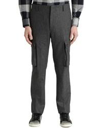 Pantalon cargo en laine gris foncé