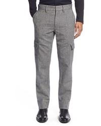 Pantalon cargo en laine gris