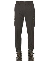 Pantalon cargo en laine noir