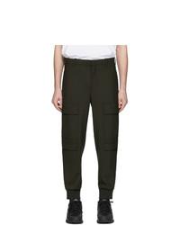 Pantalon cargo en laine olive Neil Barrett