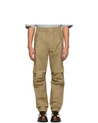 Pantalon cargo marron clair Feng Chen Wang