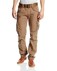 Pantalon cargo marron clair Schott NYC
